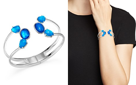 IPPOLITA Sterling Silver Rock Candy® Wonderland Mixed Doublet Open Wire Hinged Bangle in Island - Bloomingdale's_2