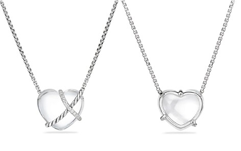 David Yurman Le Petit Coeur Sculpted Heart Chain Necklace with Crystal and Diamonds - Bloomingdale's_2