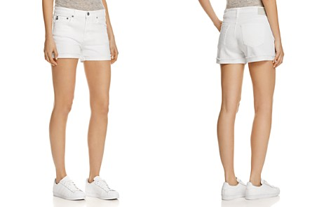 AG Hailey Denim Shorts in White - Bloomingdale's_2