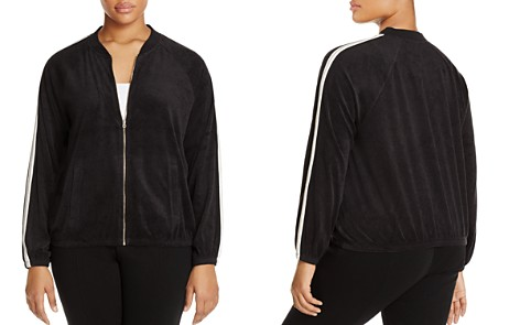 Juicy Couture Black Label Plus Microterry Stripe Track Jacket - 100% Exclusive - Bloomingdale's_2