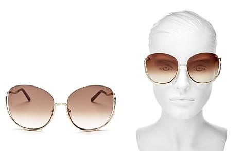 Chloé Women's Milla Oversized Round Sunglasses, 64mm - Bloomingdale's_2