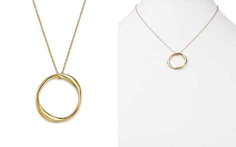 """14K Yellow Gold Twisted Ring Pendant Necklace, 18"""" - 100% Exclusive - Bloomingdale's_2"""