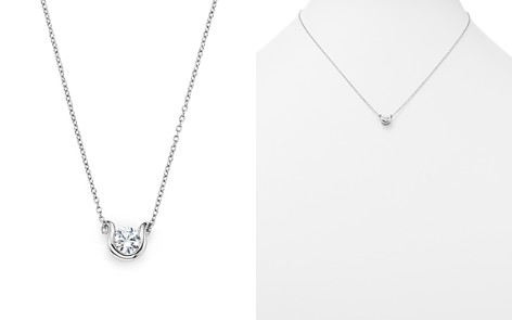 Diamond Pendant Necklace in 14K White Gold, .50 ct. t.w. - 100% Exclusive - Bloomingdale's_2