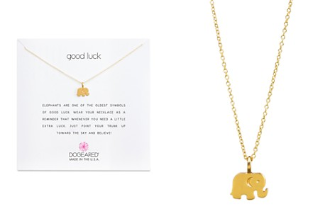 "Dogeared Gold Good Luck Elephant Necklace, 16"" - Bloomingdale's_2"