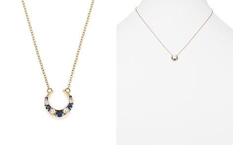 "ICONERY x Stone Fox Bride 14K Yellow Gold Crescent Diamond and Sapphire Necklace, 16"" - Bloomingdale's_2"