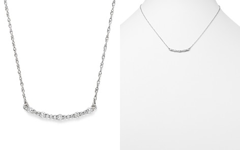 Diamond Curved Bar Pendant Necklace in 14K White Gold, .30 ct. t.w. - 100% Exclusive - Bloomingdale's_2