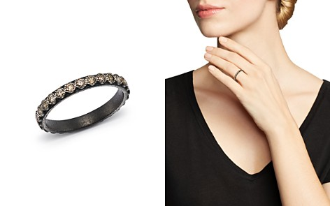 Armenta Blackened Sterling Silver Old World Diamond Stacking Ring - Bloomingdale's_2
