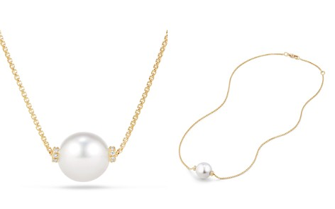 David Yurman Solari Single Station Necklace in 18K Gold with Diamonds and South Sea Cultured Pearl - Bloomingdale's_2