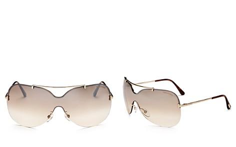 Tom Ford Women's Ondria Brow Bar Shield Sunglasses, 148mm - Bloomingdale's_2