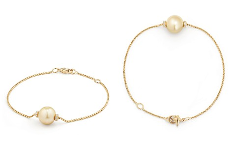 David Yurman Solari Single Station Bracelet in 18K Gold with Diamonds and South Sea Yellow Cultured Pearl - Bloomingdale's_2