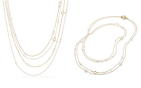 David Yurman Oceanica Two Row Chain Necklace in 18K Gold with Pearls - Bloomingdale's_2