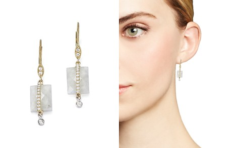 Meira T 14K White and Yellow Gold Rainbow Moonstone and Diamond Square Drop Earrings - Bloomingdale's_2