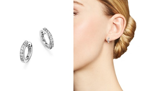 Diamond Mini Hoop Earrings in 14K Gold - 100% Exclusive - Bloomingdale's_2