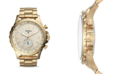 Fossil Q Nate Hybrid Stainless Steel Smartwatch, 50mm - Bloomingdale's_2