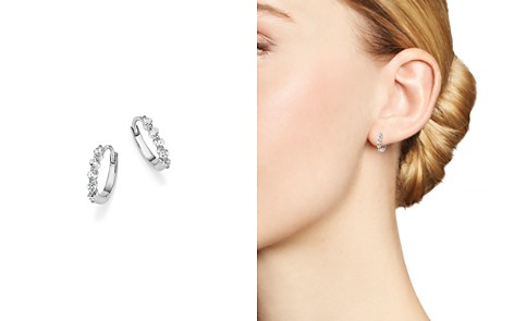 Diamond Mini Hoop Earrings in 14K White Gold, .25 ct. t.w. - 100% Exclusive - Bloomingdale's_2