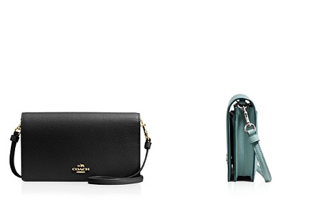 COACH Foldover Crossbody Clutch in Polished Pebble Leather - Bloomingdale's_2