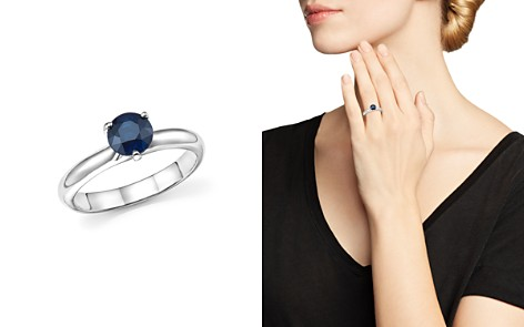 Roberto Coin Platinum Prong Set Sapphire Ring - Bloomingdale's_2