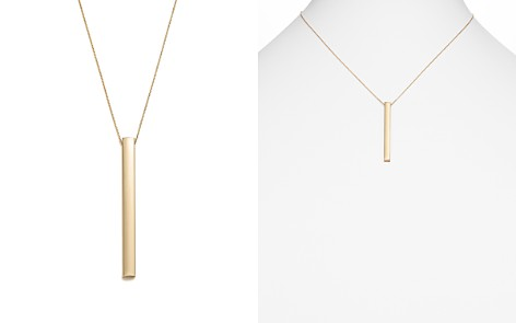 """14K Yellow Gold Bar Pendant Necklace, 18"""" - 100% Exclusive - Bloomingdale's_2"""