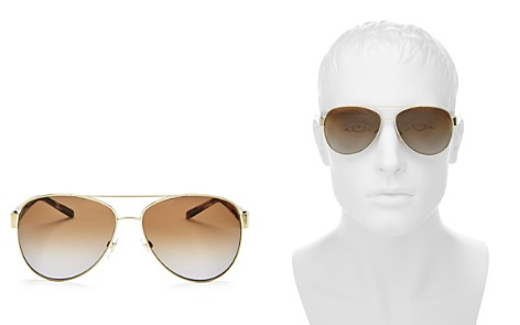 Burberry Men's Polarized Brow Bar Aviator Sunglasses, 60mm - Bloomingdale's_2