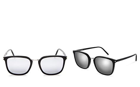 Saint Laurent Men's Classic Mirrored Square Sunglasses, 52mm - Bloomingdale's_2
