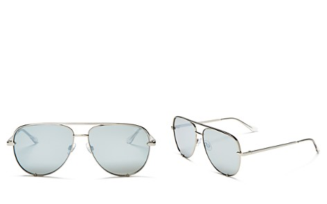Quay x Desi High Key Mirrored Aviator Sunglasses, 56mm - Bloomingdale's_2