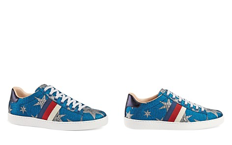 Gucci New Ace Embroidered Low Top Lace Up Sneakers - Bloomingdale's_2