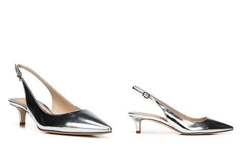 Sam Edelman Ludlow Metallic Pointed Toe Slingback Pumps - Bloomingdale's_2