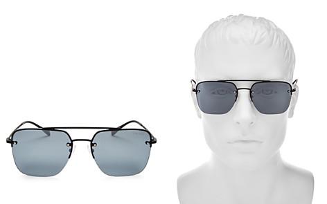 Prada Men's Navigator Brow Bar Square Sunglasses, 59mm - Bloomingdale's_2