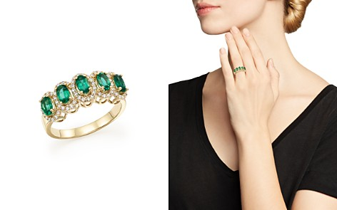 Emerald and Diamond Statement Ring in 14K Yellow Gold - 100% Exclusive - Bloomingdale's_2