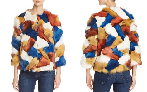 Maximilian Furs Fox Fur Patchwork Jacket - 100% Exclusive - Bloomingdale's_2