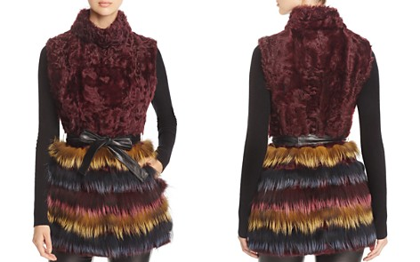 Maximilian Furs Kalgan Lamb Fur & Fox Fur Vest - 100% Exclusive - Bloomingdale's_2