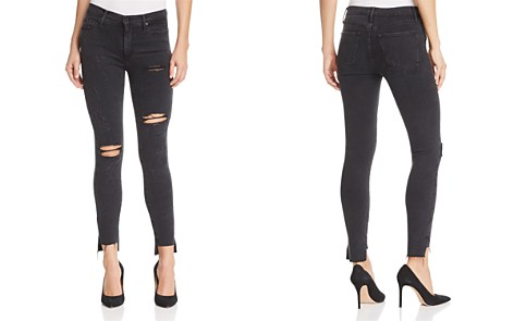 Black Orchid Miranda High Rise Distressed Skinny Jeans in Night Rider - Bloomingdale's_2