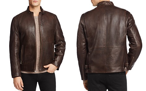 Andrew Marc Leather Jacket Lined with Faux Shearling - 100% Exclusive - Bloomingdale's_2