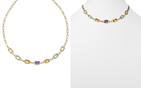 """Multi Gemstone Necklace in 14K Yellow and White Gold, 18"""" - 100% Exclusive - Bloomingdale's_2"""