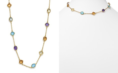 """Multi Gemstone Beaded Necklace in 14K Yellow Gold, 17"""" - 100% Exclusive - Bloomingdale's_2"""