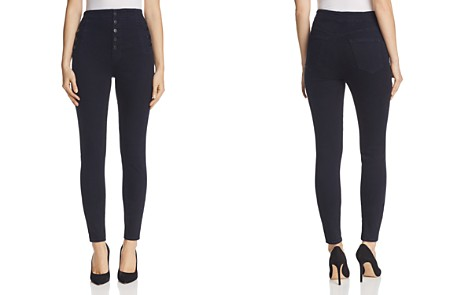 J Brand Natasha Button Sky High Skinny Jeans in Bluebird - Bloomingdale's_2