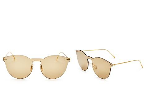Illesteva Leonard II Mask Mirrored Round Shield Sunglasses, 50mm - Bloomingdale's_2
