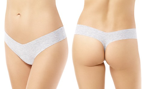 Commando Cotton-Stretch Heathered Thong - Bloomingdale's_2
