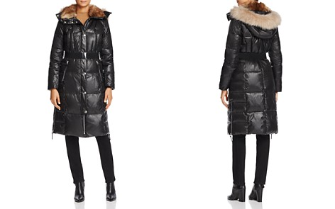 Marc New York Liz Belted Faux Fur Puffer Coat - Bloomingdale's_2