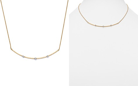 """Marco Bicego 18K Yellow Gold Luce Diamond Bar Necklace, 16.5"""" - 100% Exclusive - Bloomingdale's_2"""