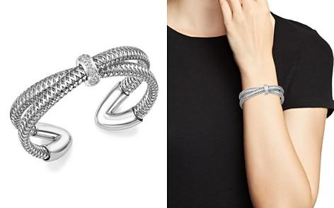 Roberto Coin 18K White Gold Primavera Diamond Cuff Bracelet - 100% Exclusive - Bloomingdale's_2