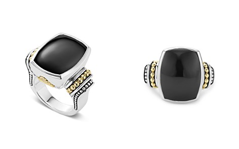 LAGOS 18K Gold and Sterling Silver Caviar Color Large Onyx Ring - Bloomingdale's_2