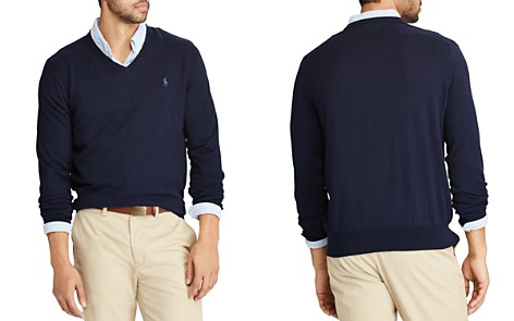 Polo Ralph Lauren V-Neck Cotton Sweater - Bloomingdale's_2