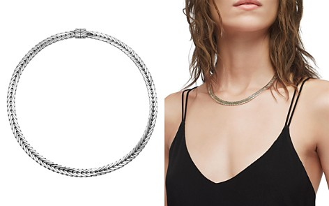 "John Hardy Sterling Silver Modern Chain Small Collar Necklace, 18"" - Bloomingdale's_2"