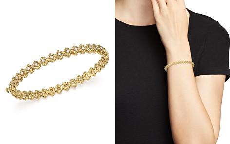 Roberto Coin 18K Yellow Gold New Barocco Diamond Single Row Bangle - Bloomingdale's_2