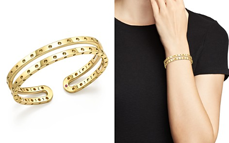 Roberto Coin 18K Yellow Gold Symphony Double Bangle - Bloomingdale's_2