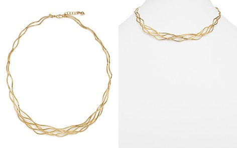 """14K Yellow Gold Wave Wire Collar Necklace, 17"""" - 100% Exclusive - Bloomingdale's_2"""