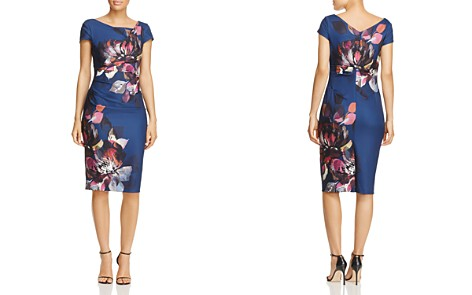 Adrianna Papell Floral Sheath Dress - 100% Exclusive - Bloomingdale's_2