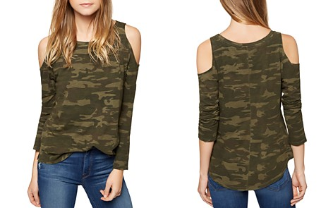 Sanctuary Lolita Cold-Shoulder Camouflage Tee - Bloomingdale's_2