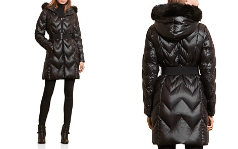 Lauren Ralph Lauren Faux Fur Trim Chevron Quilted Puffer Coat - Bloomingdale's_2